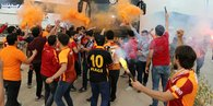 Galatasaray, Alanyada şampiyon gibi karşılandı