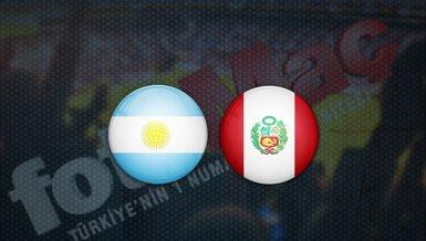 Arjantin - Peru maçı ne zaman? Saat kaçta? Hangi kanalda canlı yayınlanacak?   Dünya Kupası Elemeleri