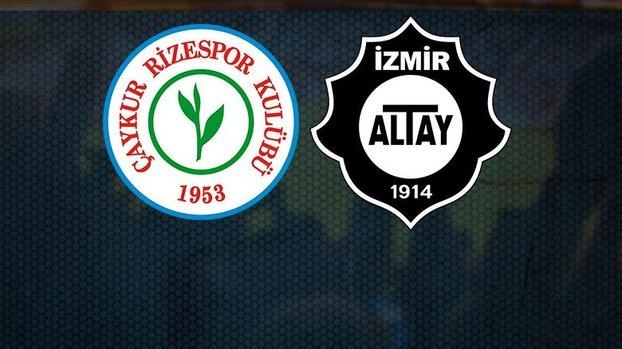 Çaykur Rizespor Altay maçı CANLI