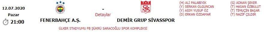 Son dakika: Fenerbahçe-Sivasspor maçının hakemi değişti! - Futbol -