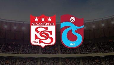 Sivasspor - Trabzonspor maçı CANLI
