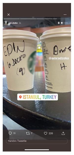 İsmi Beşiktaş ve Fenerbahçe ile anılan Edin Dzeko İstanbul'a geldi... 14