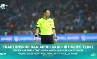 Trabzonspor'dan hakem tepkisi