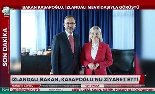 Bakan Kasapoğlu İzlandalı mevkidaşıyla görüştü