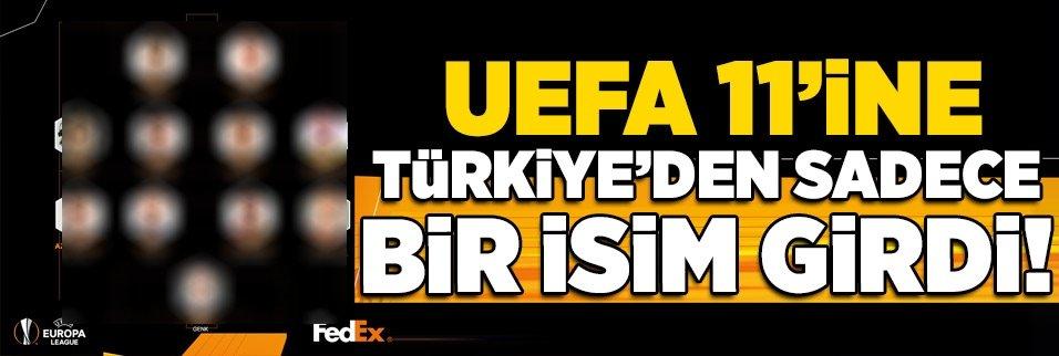 UEFA kadrosuna Türkiye'den sadece o isim girdi!