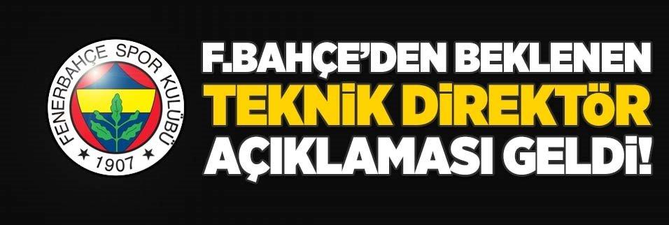 Fenerbahçe'den beklenen teknik direktör açıklaması geldi!