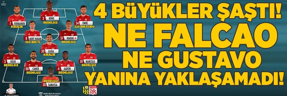 Galatasaray ve Fenerbahçe'yi şok eden Sivasspor detayı! Falcao ve Gustavo...