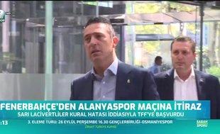 Fenerbahçe'den Alanyaspor maçına itiraz