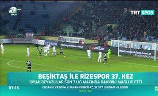 Beşiktaş ile Rizespor 37. kez