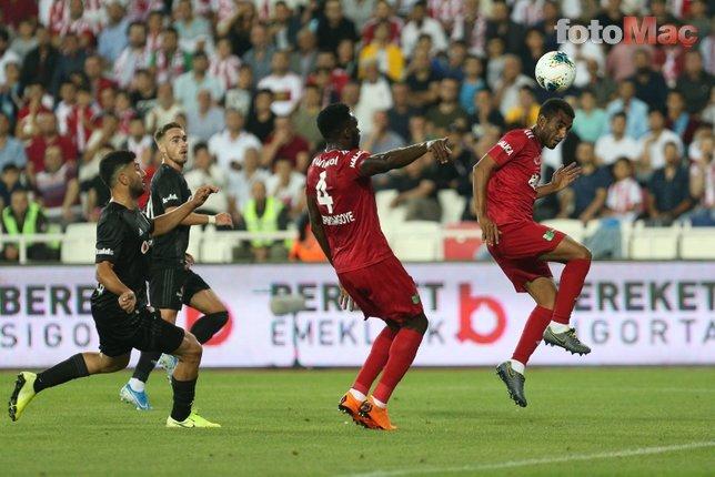 Sivasspor - Beşiktaş maçında korkutan sakatlık! İşte o anlar