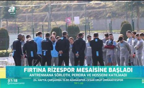Trabzonspor Rizespor mesaisine başladı