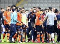 Başakşehir - Galatasaray maçının ardından gerginlik! İşte o anlar