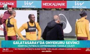 Galatasaray'da Onyekuru sevinci