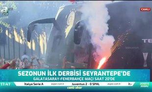 Galatasaray kafilesine coşkulu uğurlama