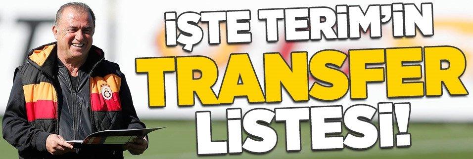 İşte Fatih Terim'in transfer listesi!