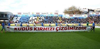 Kasımpaşa ve Trabzonspor'dan Filistin'e destek