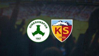 Giresunspor - Kayserispor maçı ne zaman? Saat kaçta? Hangi kanalda canlı yayınlanacak? | Süper Lig