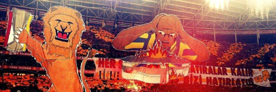 Galatasaray'dan 3 boyutlu koreografi şöleni