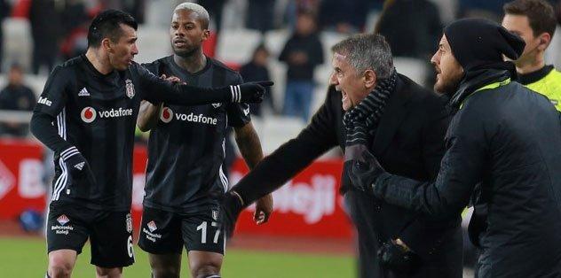 Beşiktaş'ta Medel ile Şenol Güneş arasında tartışma! İşte o görüntüler...