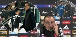 """Gerilim tavan yaptı! Ronaldo'dan Sarri'ye küfür: """"O... ç..."""""""