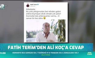 Fatih Terim'den Ali Koç'a cevap