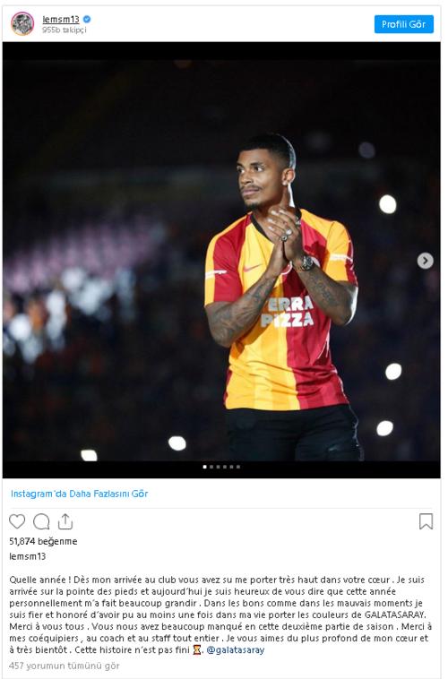 """leminadan flas galatasaray mesaji yakinda gorusuruz 1595690905107 - Lemina'dan flaş Galatasaray mesajı! """"Yakında görüşürüz"""""""