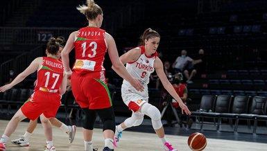A Milli Kadın Basketbol Takımı hazırlık maçında Belarus'u devirdi