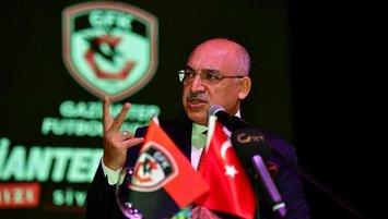 """Gaziantep FK Başkanı Büyükekşi: """"Her futbolcumuza ihtiyacımız var"""""""