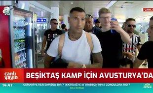 Beşiktaş kafilesi Salzburg'a ulaştı