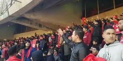 Traktör Sazi taraftarlarından Elazığ'a destek tezahüratı!
