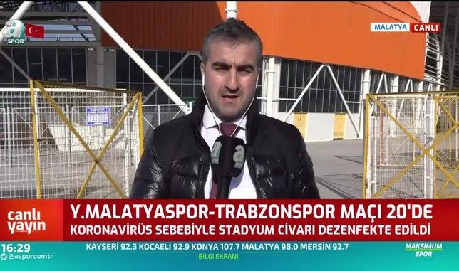 Koronavirüs sebebiyle Malatya Stadyumu dezenfekte edildi
