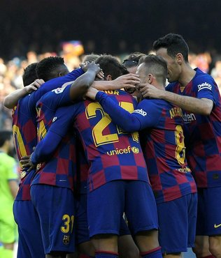 Barcelona Getafe engelini ilk yarıda aştı!