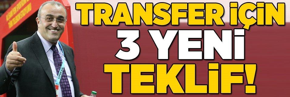 Galatasaray'da transfer için 3 yeni teklif!
