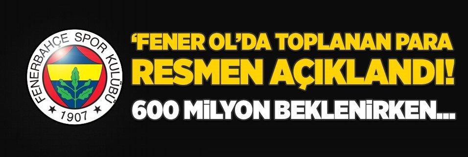 'Fener Ol' resmen açıklandı! 600 milyon beklenirken...
