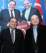 Gianni Infantino'dan Yıldırım Demirören'e ziyaret