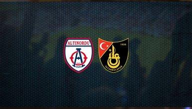 Altınordu - İstanbulspor maçı ne zaman, saat kaçta ve hangi kanalda canlı yayınlanacak? | TFF 1. Lig
