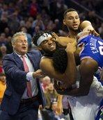 NBA'de geceye damga vuran kare! Büyük kavga ve ihraç...