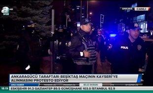 Ankaragücü taraftarından protesto