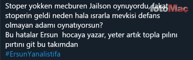 Fenerbahçe taraftarından Ersun Yanal'a tepki!