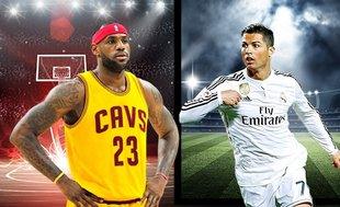 Ronaldo ve LeBron profesyonellikleriyle dikkat çekiyor!