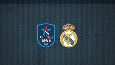 Anadolu Efes - Real Madrid maçı ne zaman? Saat kaçta? Hangi kanalda canlı yayınlanacak?   THY Euroleague