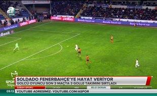 Soldado Fenerbahçe'ye hayat veriyor