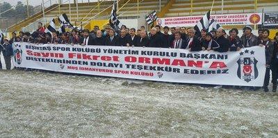 Beşiktaş'tan Muş İdmanyurdu Kulübü'ne malzeme desteği
