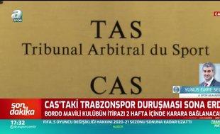 CAS'taki Trabzonspor duruşması sona erdi