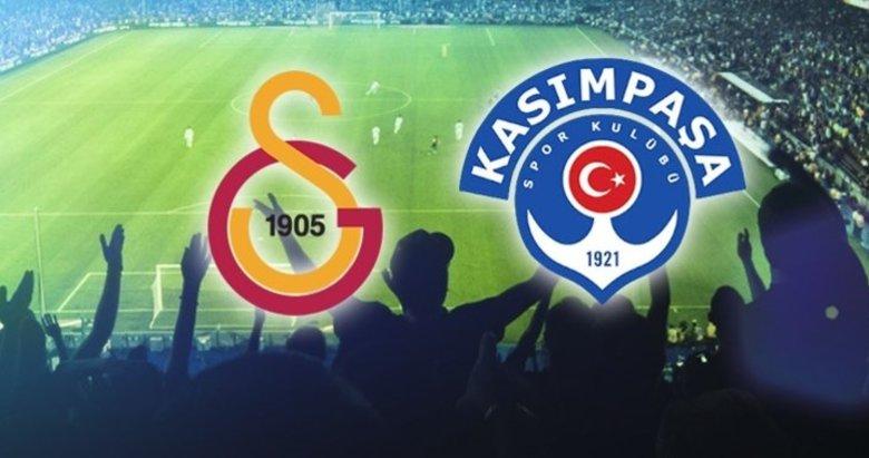 Galatasaray-Kasımpaşa karşılaşmasının 11'leri belli oldu!