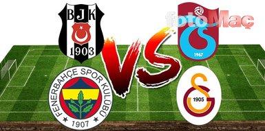 İşte Beşiktaş-Trabzonspor ve Fenerbahçe-Galatasaray maçlarında oynayamayacak isimler