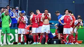 Finland beat Denmark in EURO game marred by player's collapse