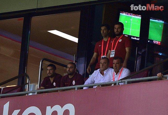 Cezalı olan Fatih Terim ve yardımcıları tribündeydi... Hasan Şaş yasak tanımadı! Galatasaray son dakika haberleri
