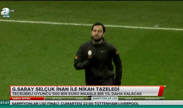 Galatasaray Selçuk İnan ile nikah tazeledi