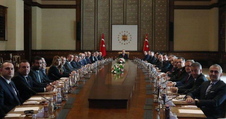 Başkan Erdoğan Kulüpler Birliği ile bir araya geldi! Toplantıdan kareler...